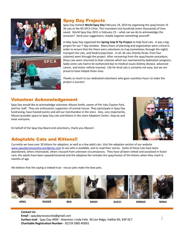 SpayDay Newsletter Fall 2014 (1)-page-1