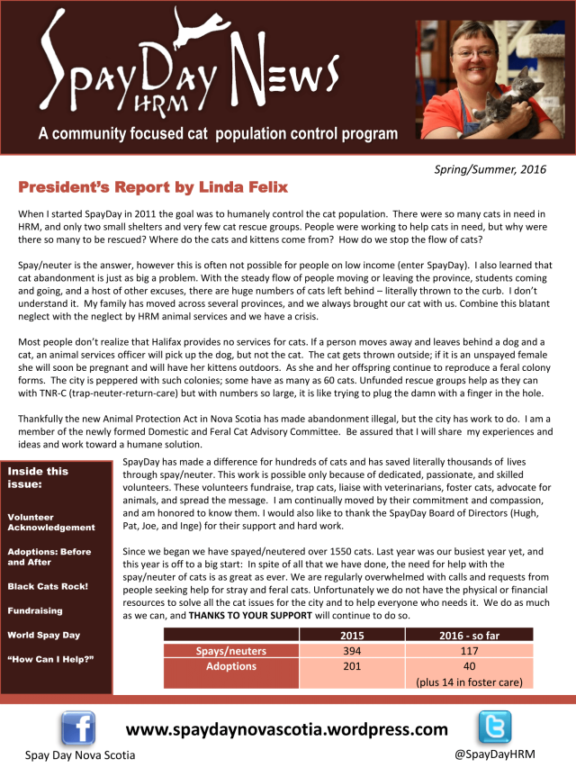 SpayDay Newsletter Spring 2016 2-1