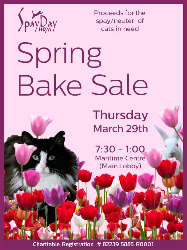 spring bake sale 2018